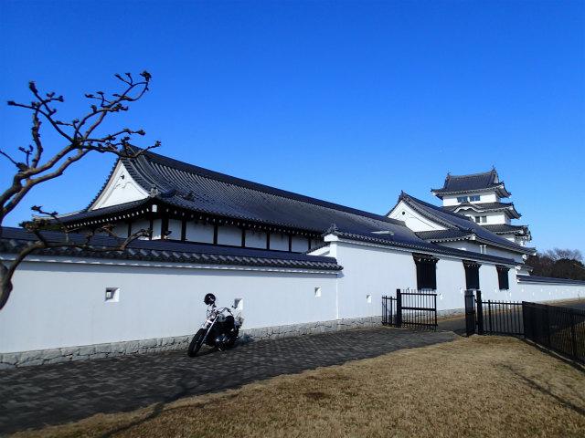 バイクと関宿城