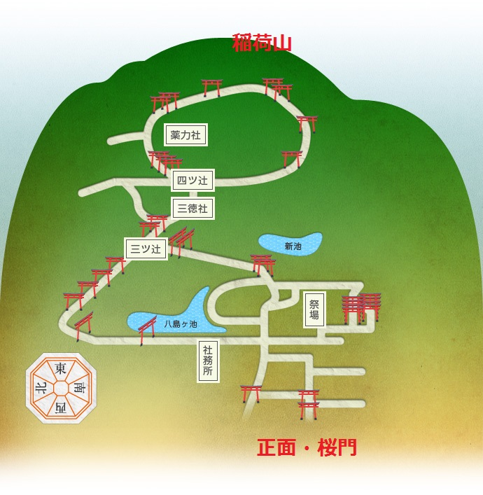 稲荷山全図