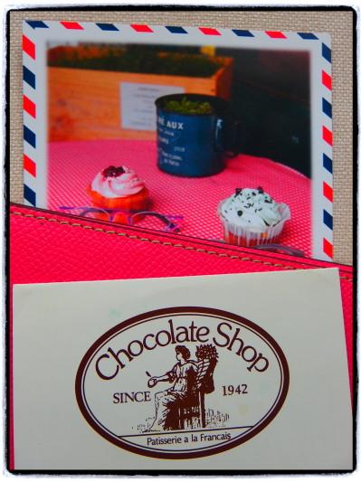 「チョコレートショップ」のポイントカード。今はデザインが違うはずです。
