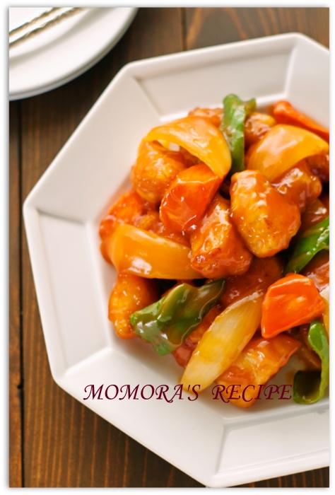 鶏胸肉の酢鶏 (2)
