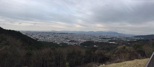 福岡市一望。