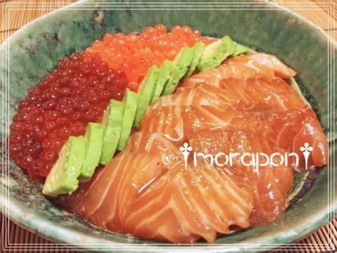 160217 鮭の親子丼-2