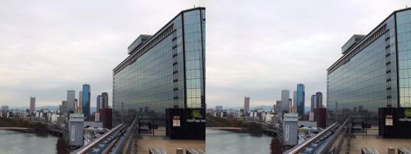 天満橋京阪シティモールからの眺望②(平行法)