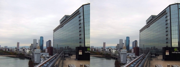 天満橋京阪シティモールからの眺望②(交差法)