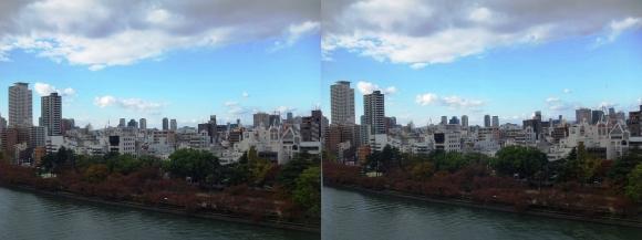 天満橋京阪シティモールからの眺望①(交差法)
