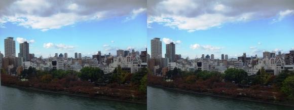 天満橋京阪シティモールからの眺望①(平行法)