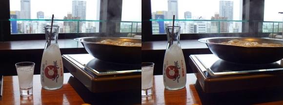 美々卯 天満橋店 うどんすきと凍結酒(平行法)