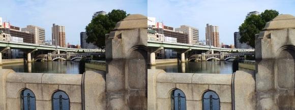 大江橋からの水晶橋(平行法)