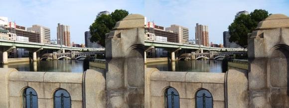 大江橋からの水晶橋(交差法)