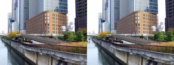 田蓑橋からの「ダイビル本館」(平行法)
