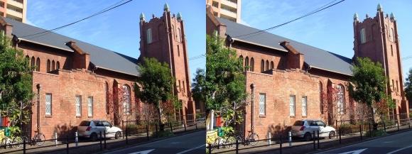 日本聖公会大阪主教座聖堂川口基督教会(平行法)