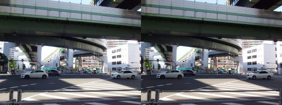 阿波座ジャンクション②(交差法)