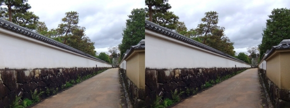 姫路城西屋敷公園 好古園 築地塀(交差法)