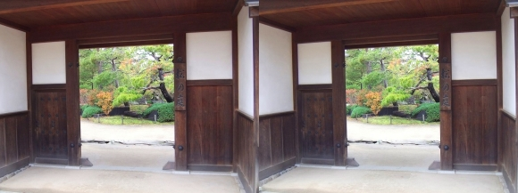 姫路城西屋敷公園 好古園 流れの平庭~夏木の庭~松の庭~花の庭⑩(平行法)