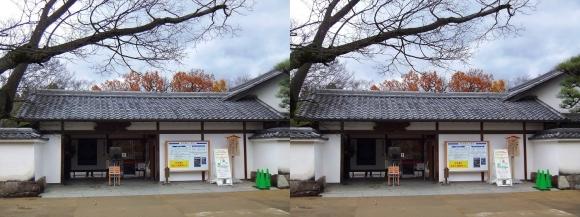 姫路城西屋敷公園 好古園 玄関(交差法)
