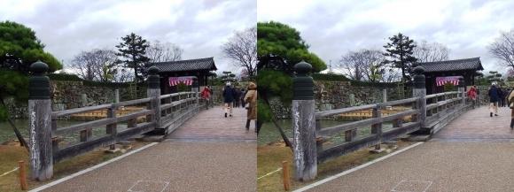姫路城桜門橋・大手門(平行法)
