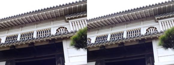姫路城菱の門②(平行法)