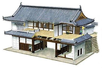 姫路城菱の門断面
