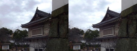 姫路城菱の門西側・西の丸南門跡(平行法)