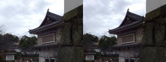 姫路城菱の門西側・西の丸南門跡(交差法)