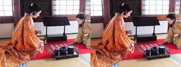 姫路城西の丸渡櫓展示 千姫(交差法)