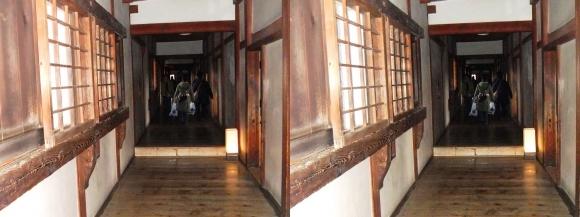 姫路城西の丸渡櫓内部②(平行法)