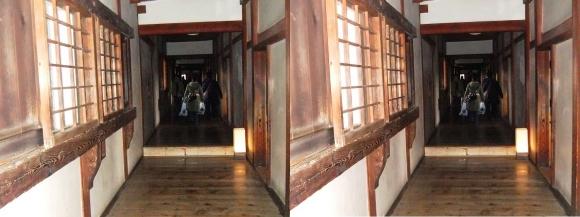 姫路城西の丸渡櫓内部②(交差法)