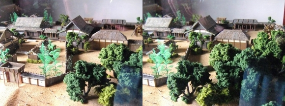 姫路城西の丸渡櫓展示 黒田官兵衛城主時代の居城模型②(平行法)