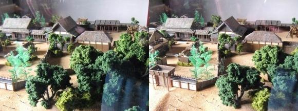 姫路城西の丸渡櫓展示 黒田官兵衛城主時代の居城模型②(交差法)