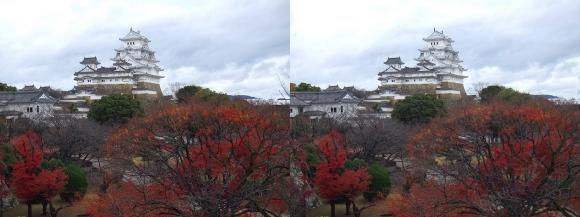 姫路城西の丸渡櫓からの天守閣②(平行法)