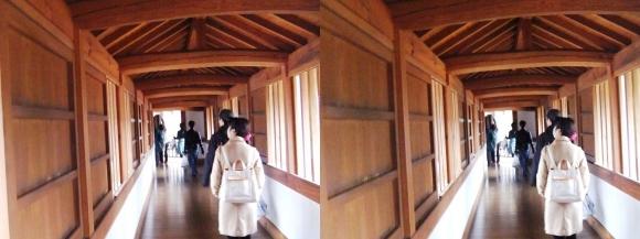 姫路城西の丸渡櫓内部①(平行法)