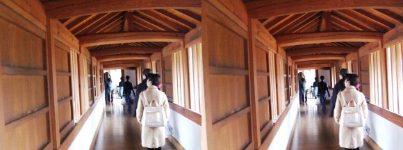 姫路城西の丸渡櫓内部①(交差法)