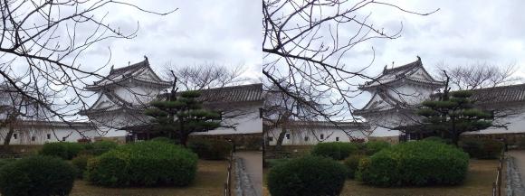 姫路城西の丸ワの櫓(平行法)