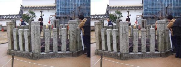 姫路城上山里 お菊井戸②(交差法)