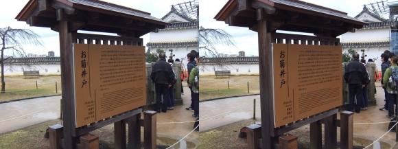 姫路城上山里 お菊井戸①(交差法)