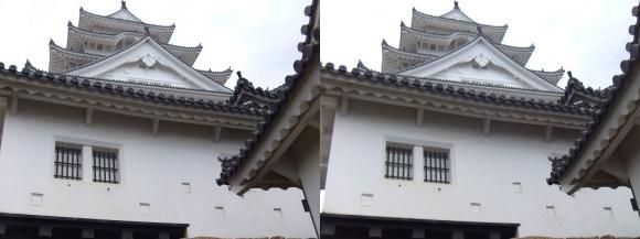 姫路城備前門からの大天守(平行法)