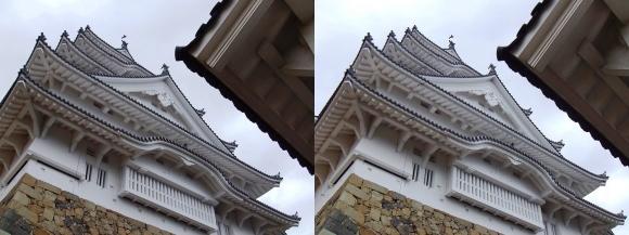 姫路城二の丸からの大天守②(平行法)