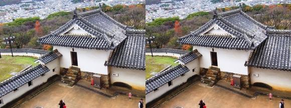 姫路城大天守からの北腰曲輪イの渡櫓(交差法)