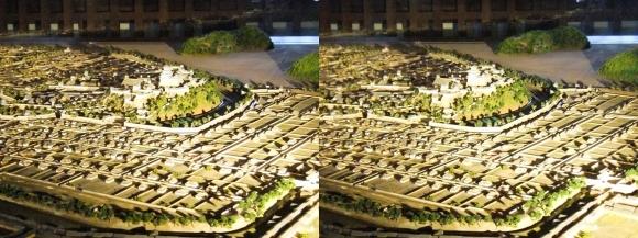 姫路城大天守 復元模型(平行法)