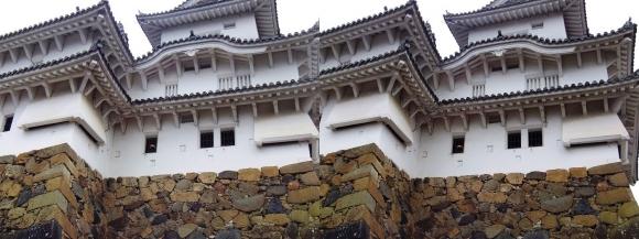 姫路城乾小天守②(交差法)