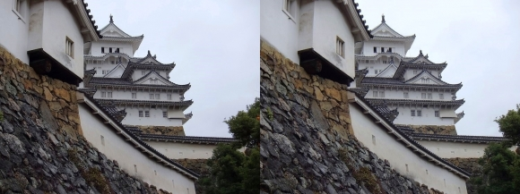 姫路城にの門への道(平行法)