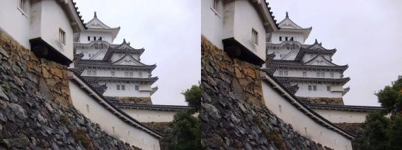 姫路城にの門への道(交差法)