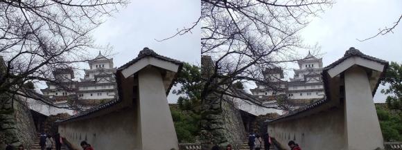 姫路城はの門南方土塀②(平行法)