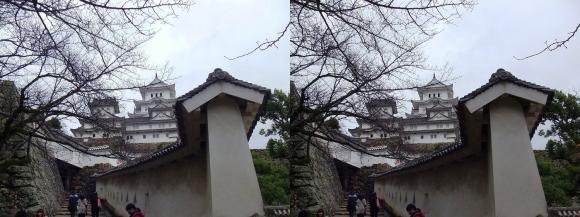 姫路城はの門南方土塀②(交差法)