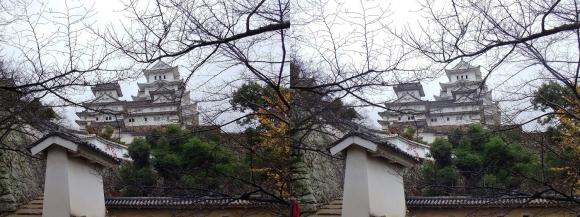 姫路城はの門南方土塀①(平行法)