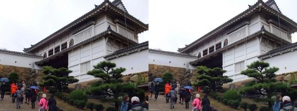 姫路城菱の門①(平行法)