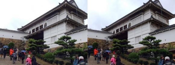 姫路城菱の門①(交差法)