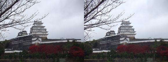 姫路城三の丸広場②(平行法)