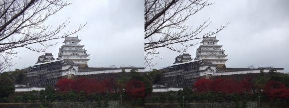 姫路城三の丸広場②(交差法)