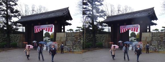 姫路城大手門①(平行法)